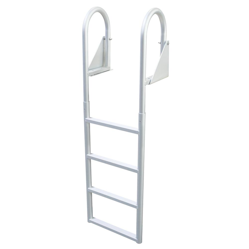 extreme max 4 step flip up dock ladder the home depot. Black Bedroom Furniture Sets. Home Design Ideas