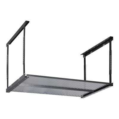 28 in. H x 50 in. W x 36 in. D Ceiling Mount Overhead Storage Rack