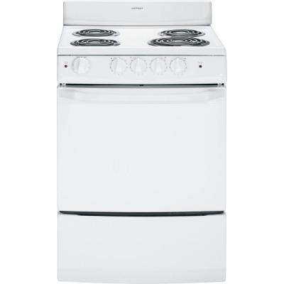 24 in. 3.0 cu. ft. Electric Range in White