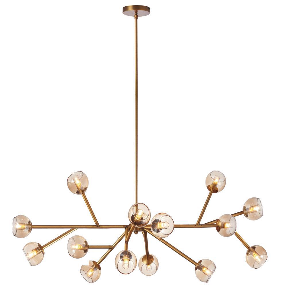 Filament design chandeliers lighting the home depot 14 light vintage bronze chandelier aloadofball Gallery