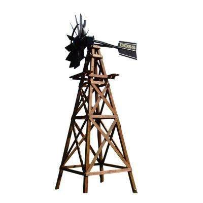 16 ft. 4 Legged Wooden Aeration Windmill with Powder Coat Head