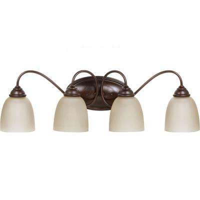 Lemont 4-Light Burnt Sienna Vanity Light