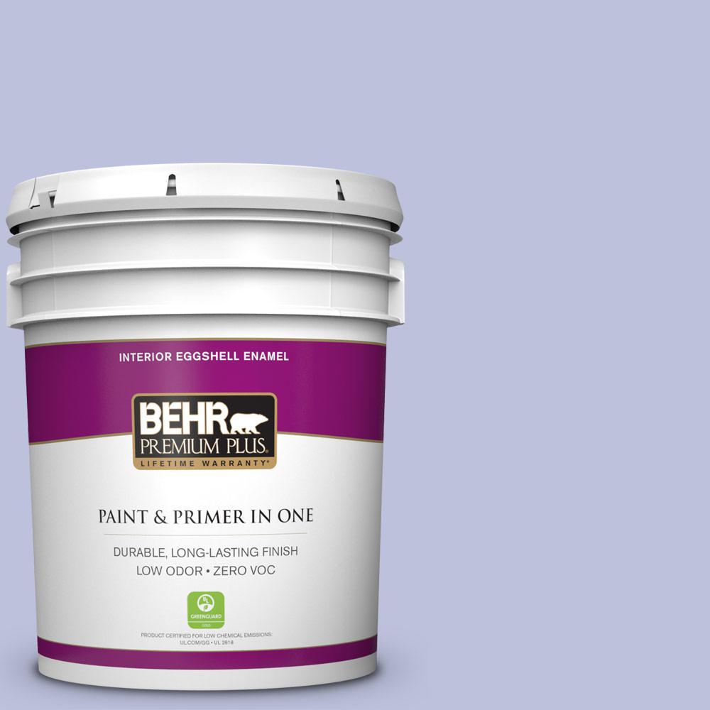 BEHR Premium Plus 5-gal. #610A-3 Lavender Sachet Zero VOC Eggshell Enamel Interior Paint