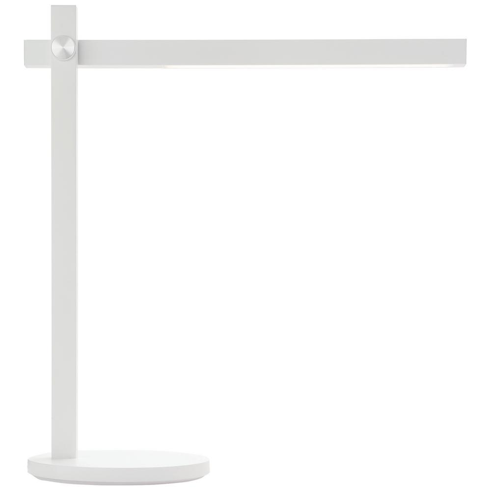Newhouse Lighting Adonis 17 in. White LED Dimmable Desk Lamp with Wireless Charger and Color Temperature Light Control
