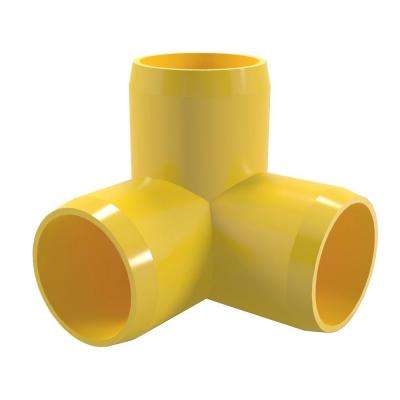 1-1/4 in. Furniture Grade PVC 3-Way Elbow in Yellow (4-Pack)