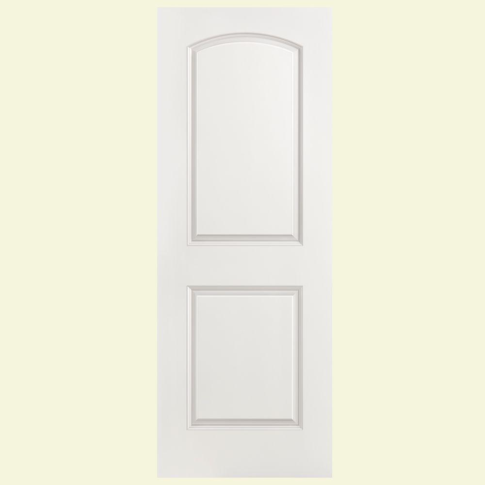 Superbe Masonite 36 In. X 80 In. Solidoor Roman Smooth 2 Panel Round Top