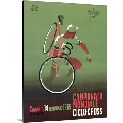 """""""1965 Italian Bicycle Ciclo-Cross Vintage Advertising Poster"""" by ArteHouse Canvas Wall Art"""
