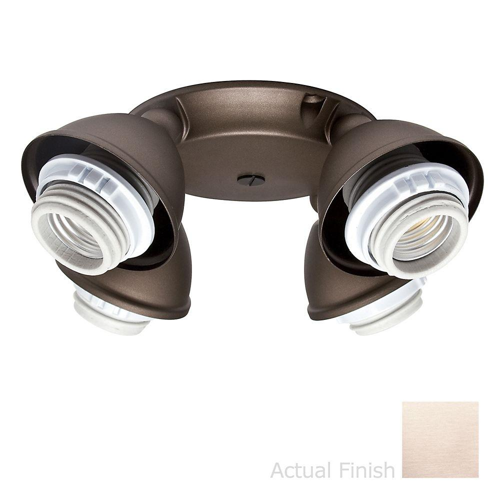 Casablanca 4-Light Brushed Nickel Integrated Socket-Ring Fitter Light Kit-DISCONTINUED