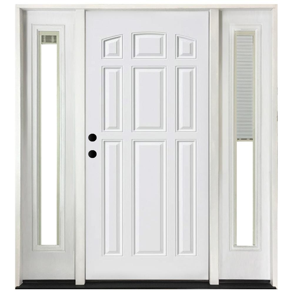 Steves sons 72 in x 80 in 9 panel primed white right for White front door with glass