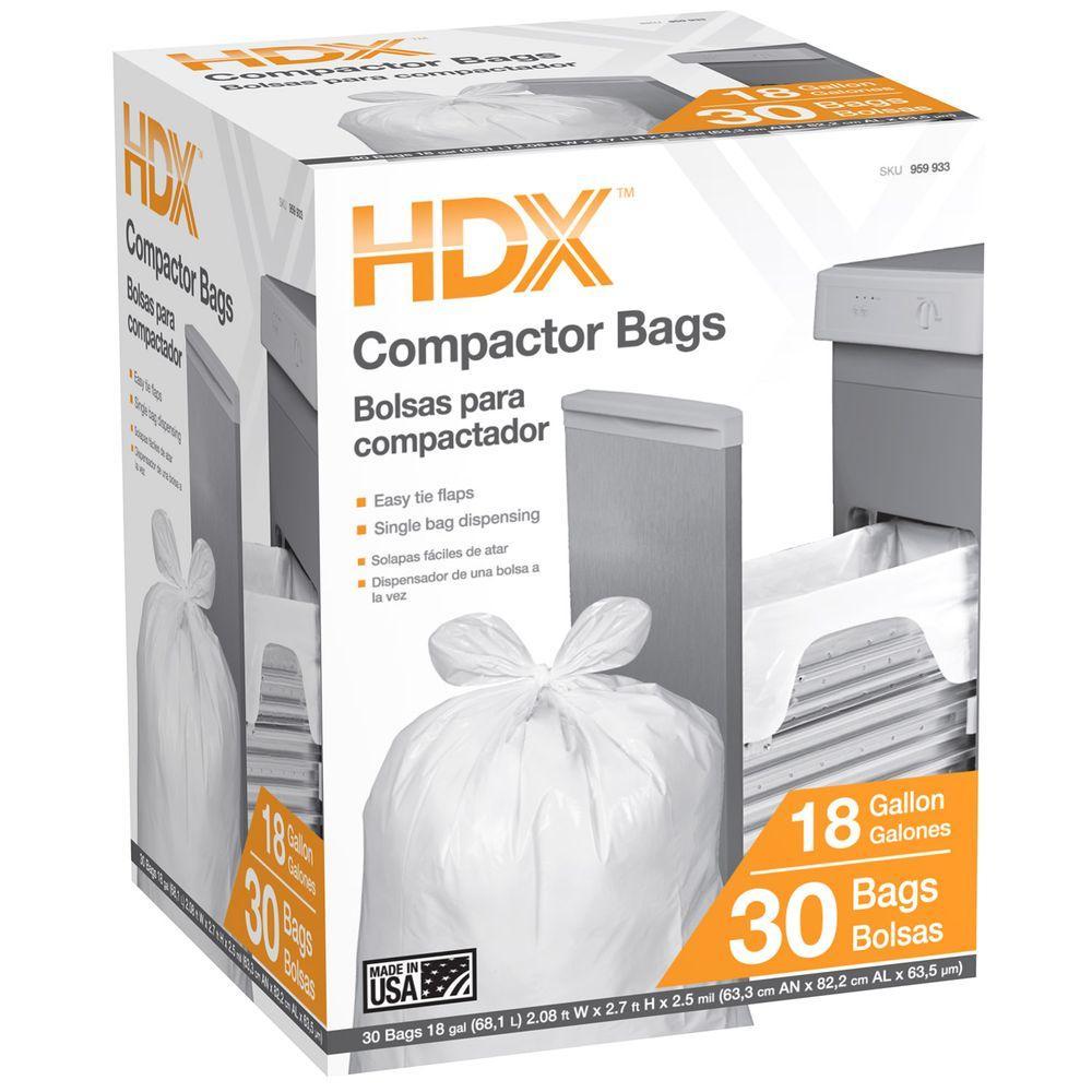 18 Gallon Wave Cut Compactor Trash Bag (30-Count)