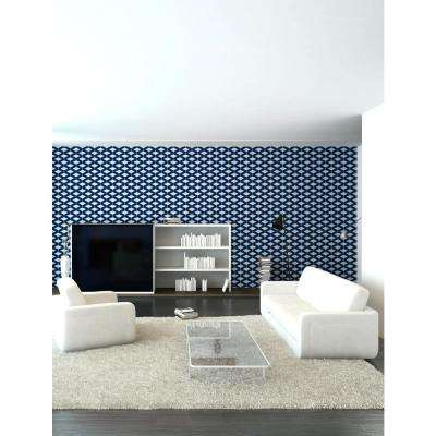 Art in Chaos Collection Abacus in Navy Blue Removable and Repositionable Wallpaper