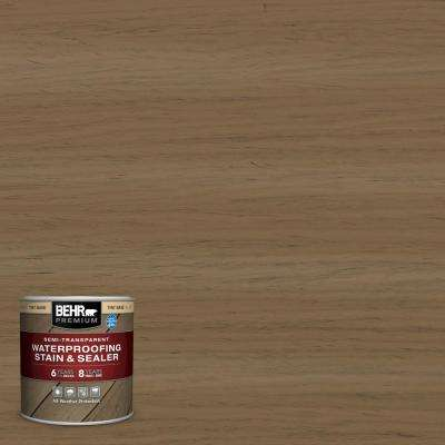 8 oz. #ST-147 Castle Gray Semi-Transparent Waterproofing Exterior Wood Stain and Sealer Sample