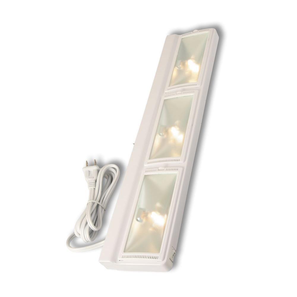24 in. Halogen White Plug In Cabinet Light