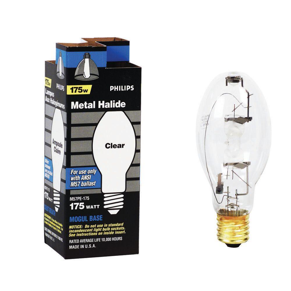 Hid Light Bulbs >> Philips 175 Watt Ed28 Hid Clear Metal Halide Light Bulb
