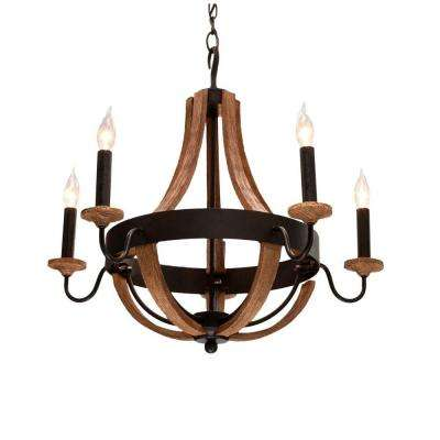 Talo 5-Light Driftwood Chandelier