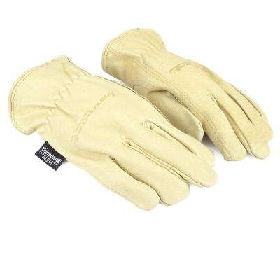 Women's S Lined Premium Pigskin Leather Driver's Gloves