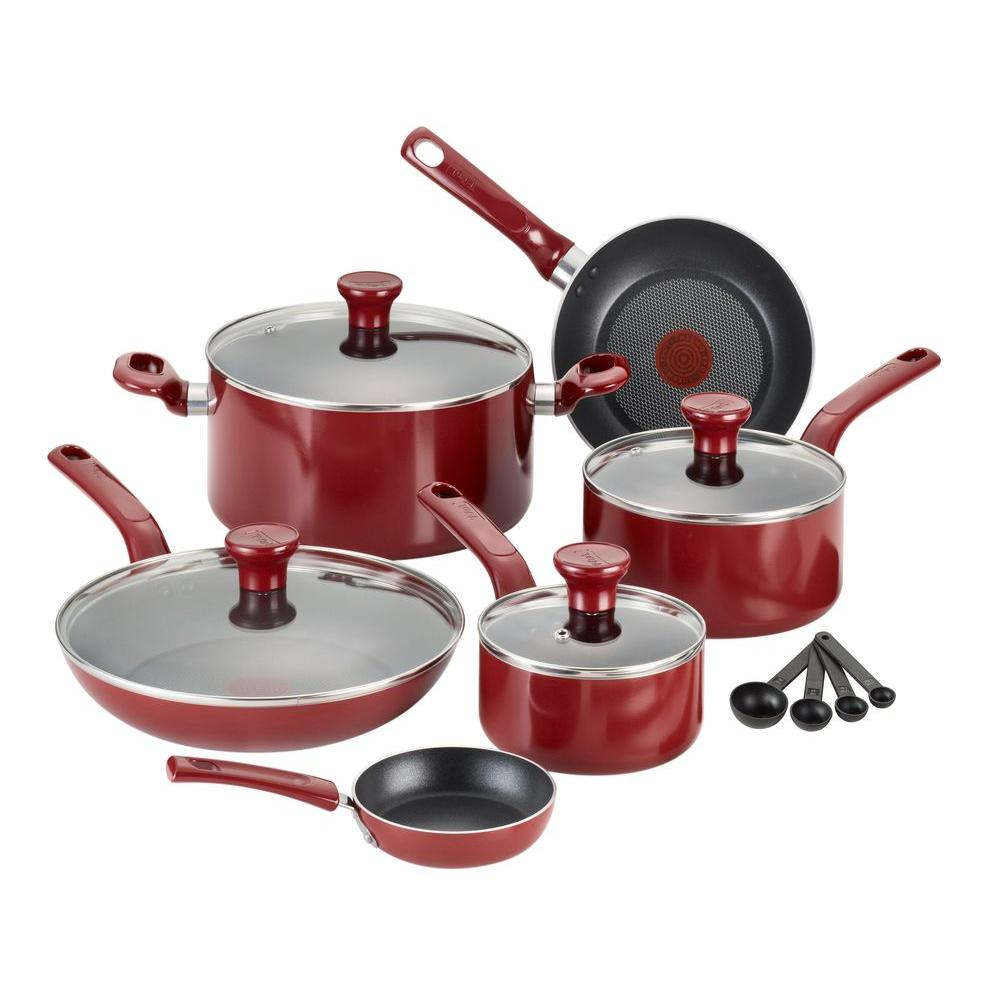 TFal Excite 14Piece Red Cookware Set with LidsC514SE The Home Depot