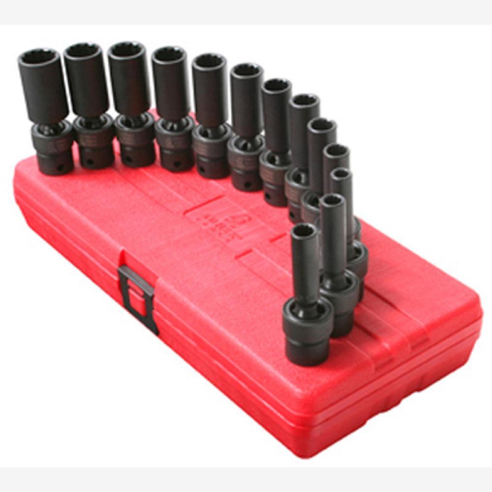 3/8 in. Drive 12-Point mm Universal Deep Impact Socket Set