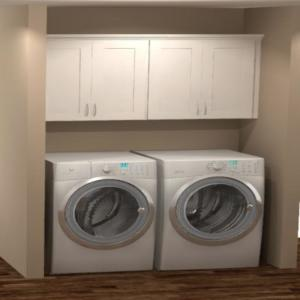 Install 64x30x12 In Laundry Room Kit
