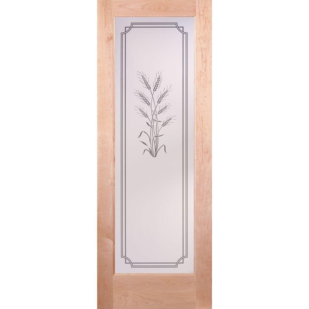 Feather River Doors 36 in. x 80 in. 1 Lite Unfinished Maple Harvest Woodgrain Interior Door Slab