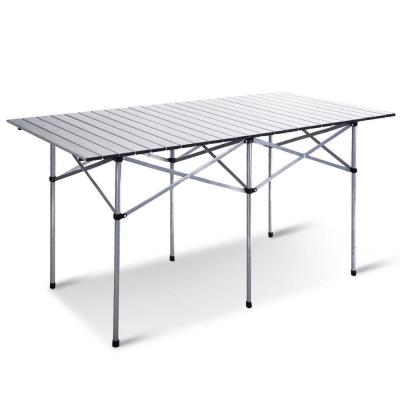 Aluminum Rectangle Roll Up Folding Outdoor Camping Picnic Table