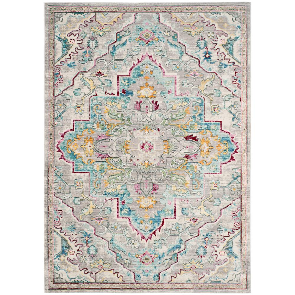 Safavieh Mystique Gray Light Blue 8 Ft X 10 Ft Area Rug
