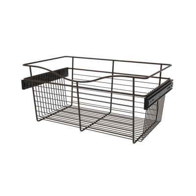 24 in. x 11 in. Oil Rubbed Bronze Pull-Out Basket