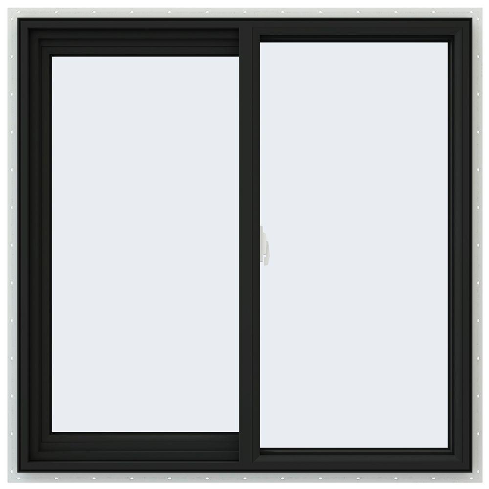 JELD-WEN 35.5 in. x 35.5 in. V-2500 Series Left-Hand Sliding Vinyl Window - Bronze