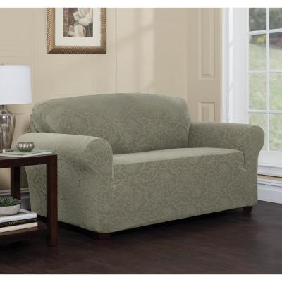 Stretch Floral Loveseat Slipcover