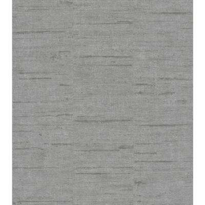 57.8 sq. ft. Maclure Silver Striated Texture Strippable Wallpaper Covers
