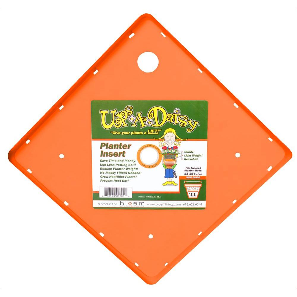 Bloem 13 in. Plastic Square Ups-A-Daisy Planter Liner (12-Pack)