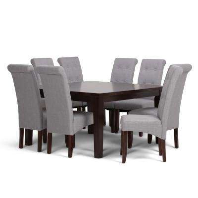 Cosmopolitan 9 Piece Dove Grey Dining Set