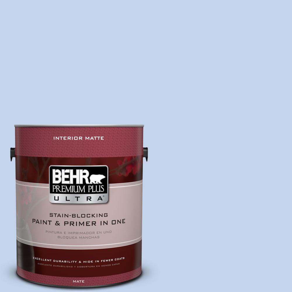 BEHR Premium Plus Ultra 1 gal. #580A-3 Rain Song Matte Interior Paint and Primer in One