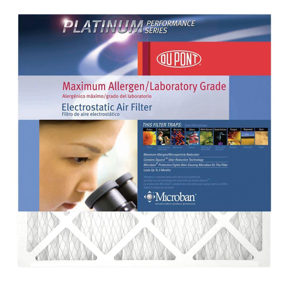 DuPont 14 in. x 25 in. x 1 in. Platinum FPR 10 Maximum Allergen Air Filter (4-Pack)