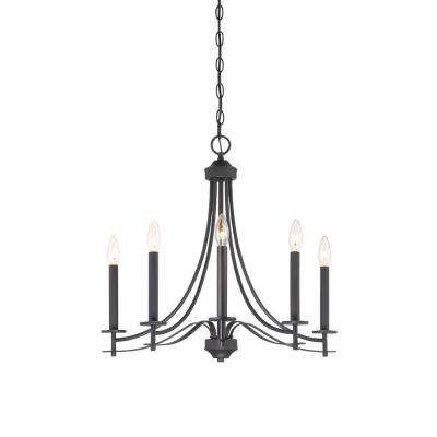 Cassina 5-Light Biscayne Bronze Chandelier