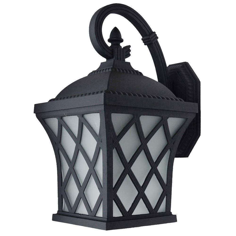 Brevent Collection 1-Light Black Outdoor Wall Lantern