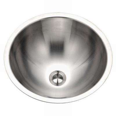 Opus Series Conical Undermount Stainless Steel 16.8 in. Single Bowl Lavatory Sink