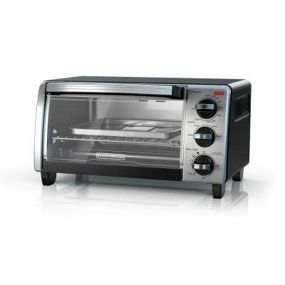 B+D 4-Slice Natural Black Convection Toaster Oven (3-Knob)