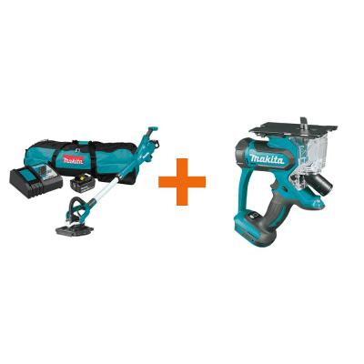 5.0 Ah 18-Volt LXT Lithium-Ion Brushless Cordless 9 in. Drywall Sander Kit, AWS Capable with bonus 18V LXT Cut-Out Saw