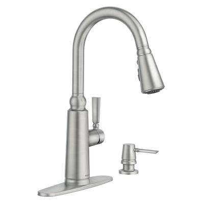 Coretta Single-Handle Pull-Down Sprayer Kitchen Faucet with Reflex and Power Boost in Spot Resist Stainless