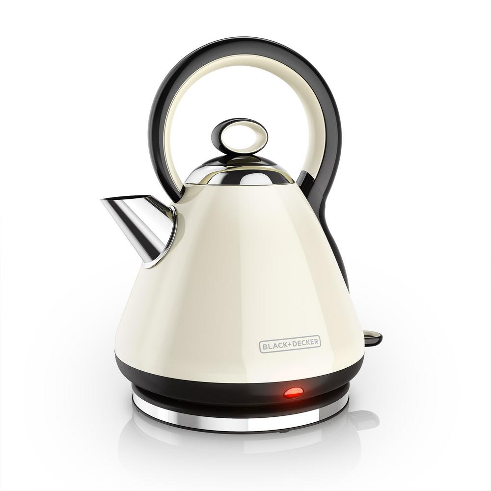 Inside Electric Kettle ~ Black decker dome stainless steel electric kettle in cream