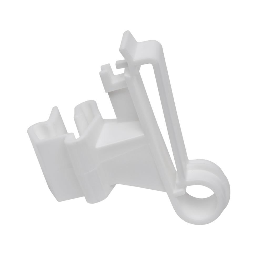 White T-Post Poly Tape Insulator (25-Per Bag)