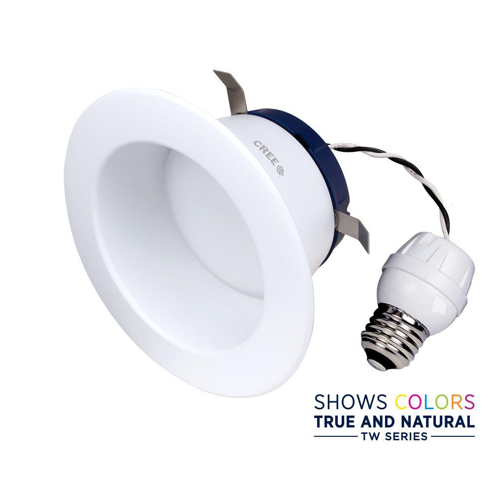 Cree TW Series 65W Equivalent Daylight 4 in. Recessed Dimmable LED Downlight Bulb