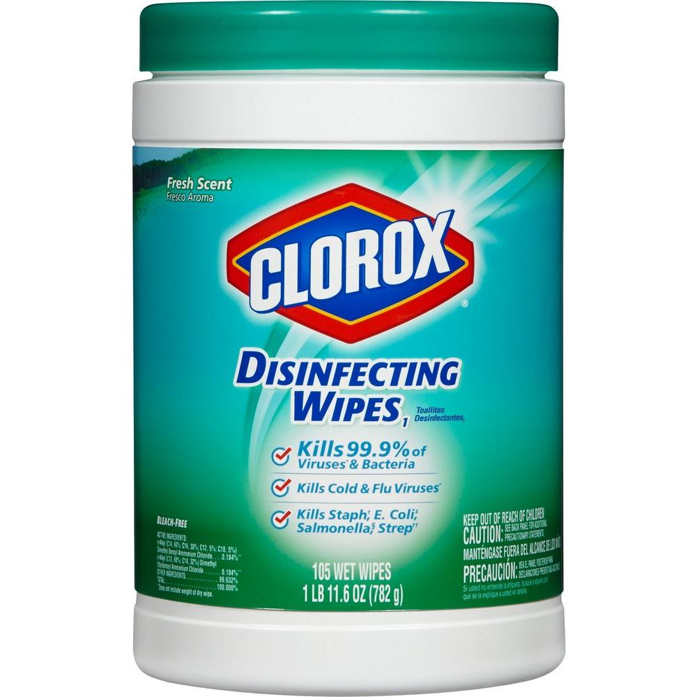 Clorox Fresh Scent Disinfecting Wipes 105 Count 01728