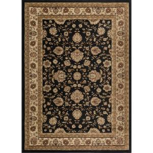 Tayse Rugs Elegance Black 5 Ft X 7 Ft Traditional Area