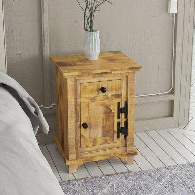 Natural Storage End Table