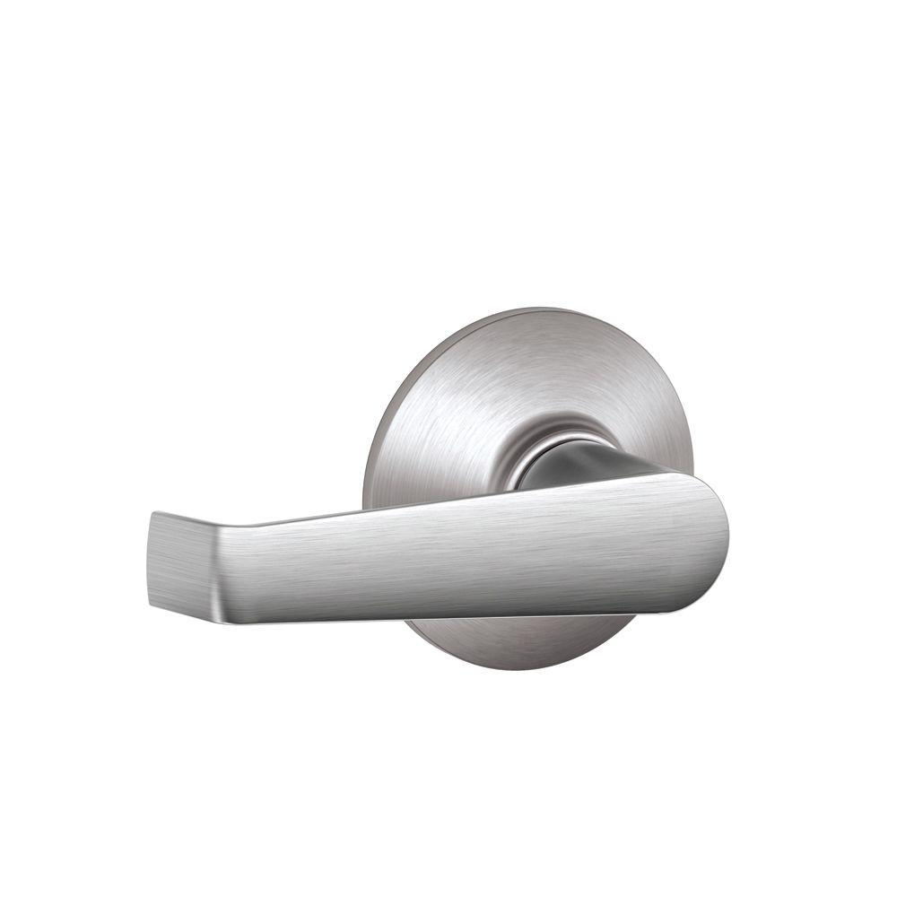 Schlage Elan Satin Chrome Passage Hall Closet Door Lever