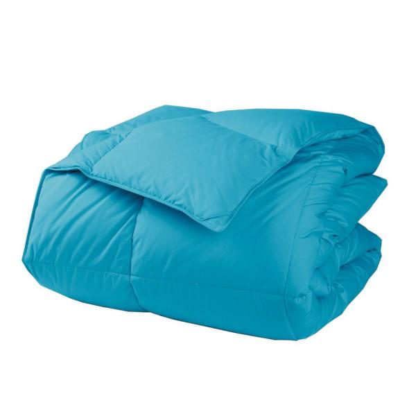 LaCrosse LoftAIRE Medium Warmth Turquoise Queen Down Alternative Comforter