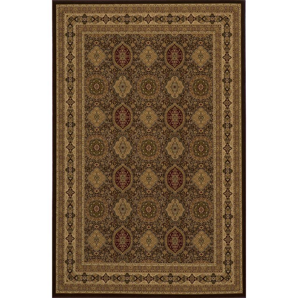 Lovely Brown 5 ft. 3 in. x 7 ft. 7 in.