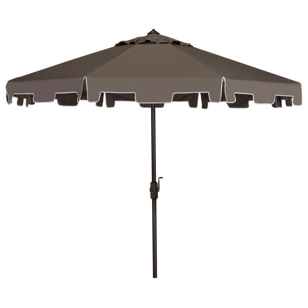 Zimmerman 9 ft. Aluminum Market Tilt Patio Umbrella in Grey